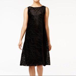Velvet Alfani Petite Burnout Fit & Flare Dress